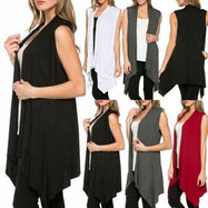 Daily Steals-Sleeveless Cardigan-Women's Apparel-Black-Large-