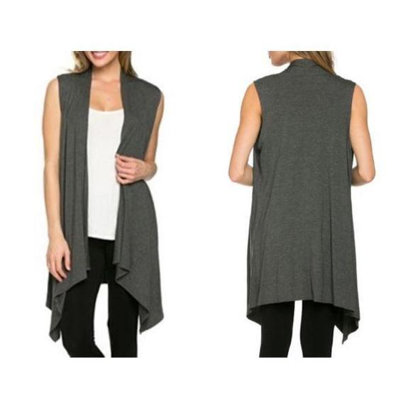 Daily Steals-Sleeveless Cardigan-Women's Apparel-Grey-Large-