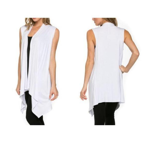 Daily Steals-Sleeveless Cardigan-Women's Apparel-White-Large-