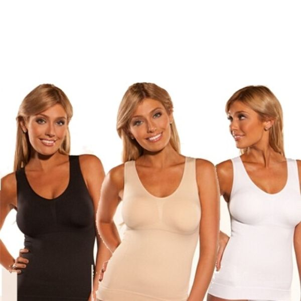 Set of 3 Women's Tummy Support Body Contouring Undershirts-Small-Daily Steals