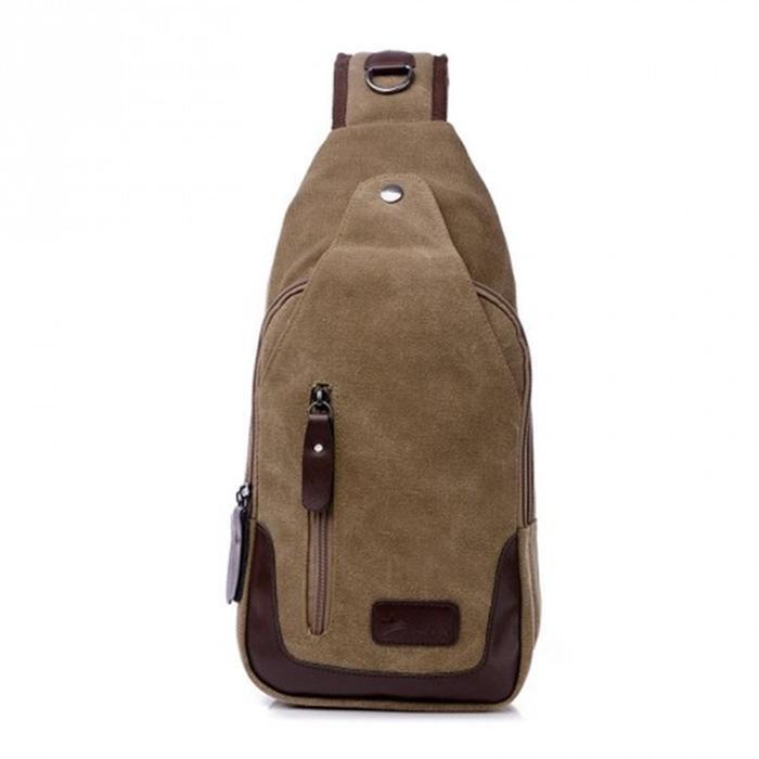 Metro Modern Canvas Shoulder Sling Bag, 5 Colors Available-Coffee-Daily Steals