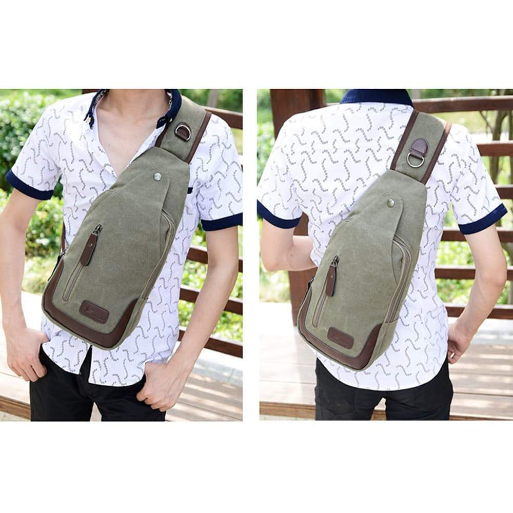 Metro Modern Canvas Shoulder Sling Bag, 5 Colors Available-Daily Steals