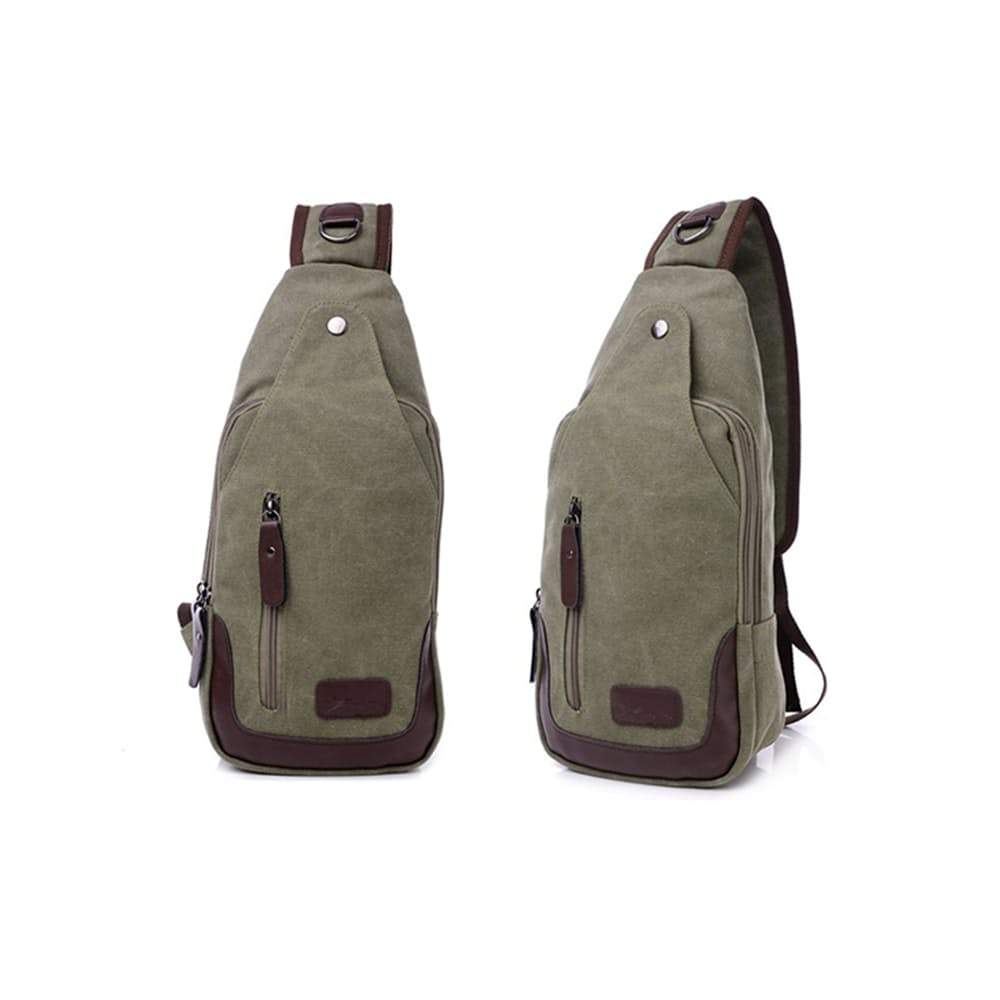 Metro Modern Canvas Shoulder Sling Bag, 5 Colors Available-Green-Daily Steals