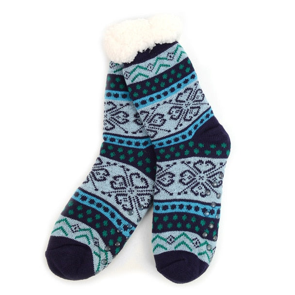 update alt-text with template Daily Steals-3 Pack Women's Plush Sherpa Winter Fleece Lining Christmas Slipper Socks-Accessories-