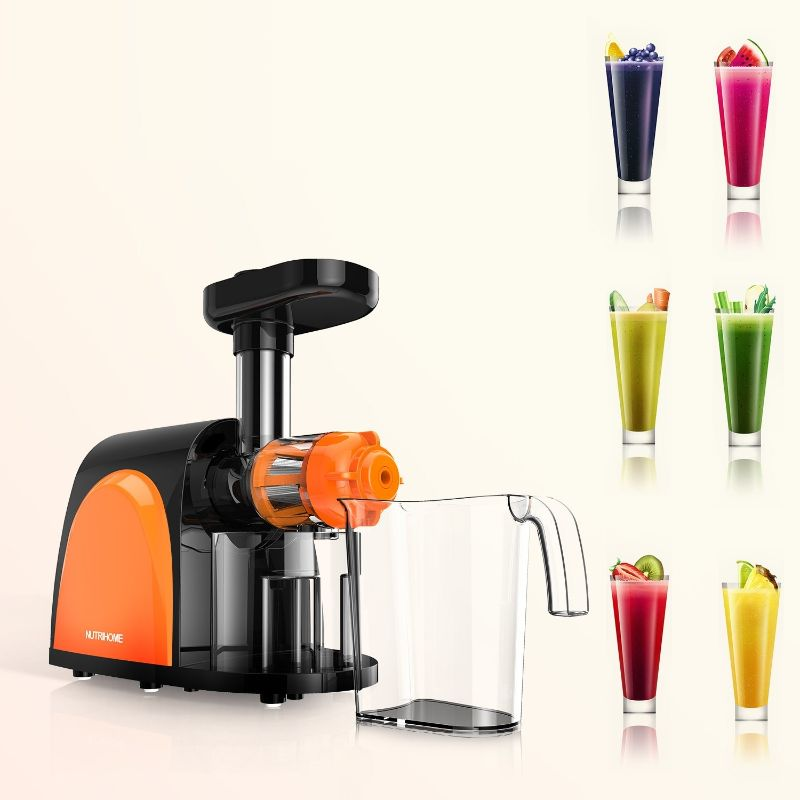 Slow Masticating Cold Press Juicer Machine with Juice Jug and Brush