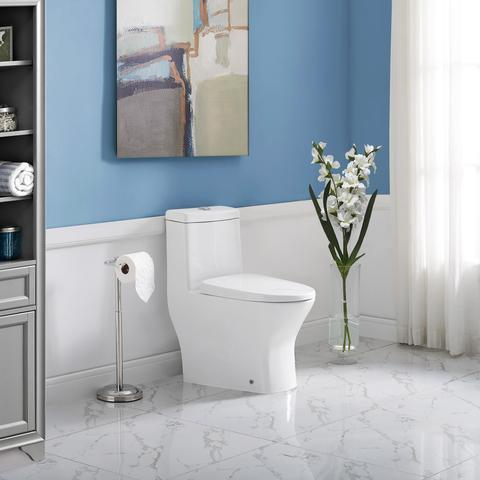 "Swiss Madison Sublime II 1-Piece Compact 24"" Long Dual Flush Small Toilet-Daily Steals"