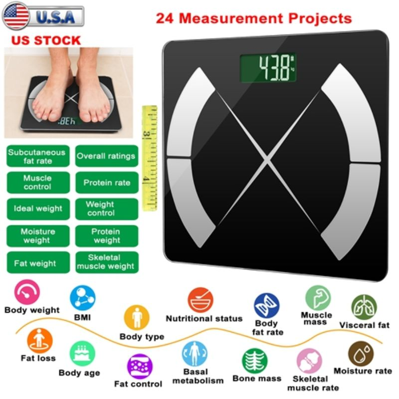Smart Body Composition Scale, Digital APP Scale, BMI Health Analyzer