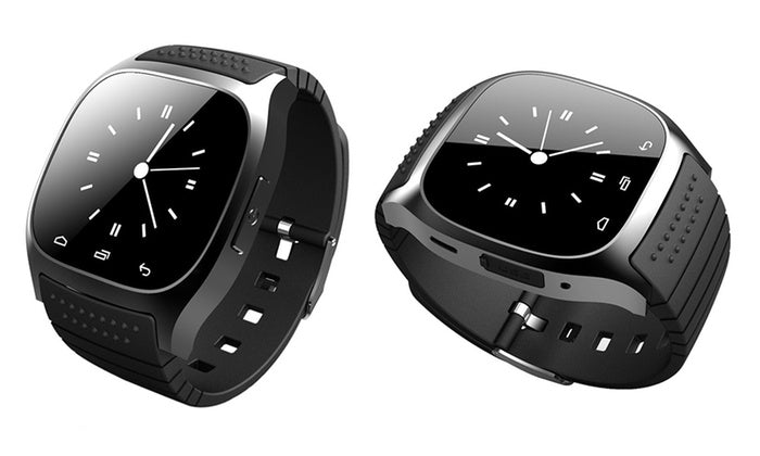 Intelligent Bluetooth Smartwatch Compatible with iOS and Android - Black-Daily Steals