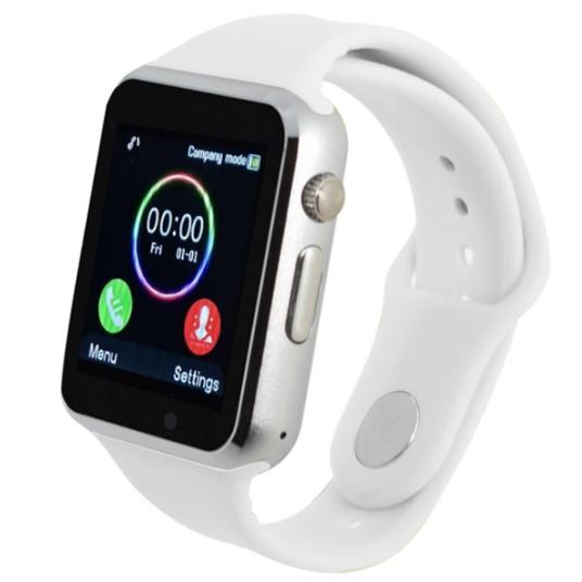update alt-text with template Daily Steals-Bluetooth Android Internet Music Smartwatch - Assorted Colors-Wearable Accessories-White-