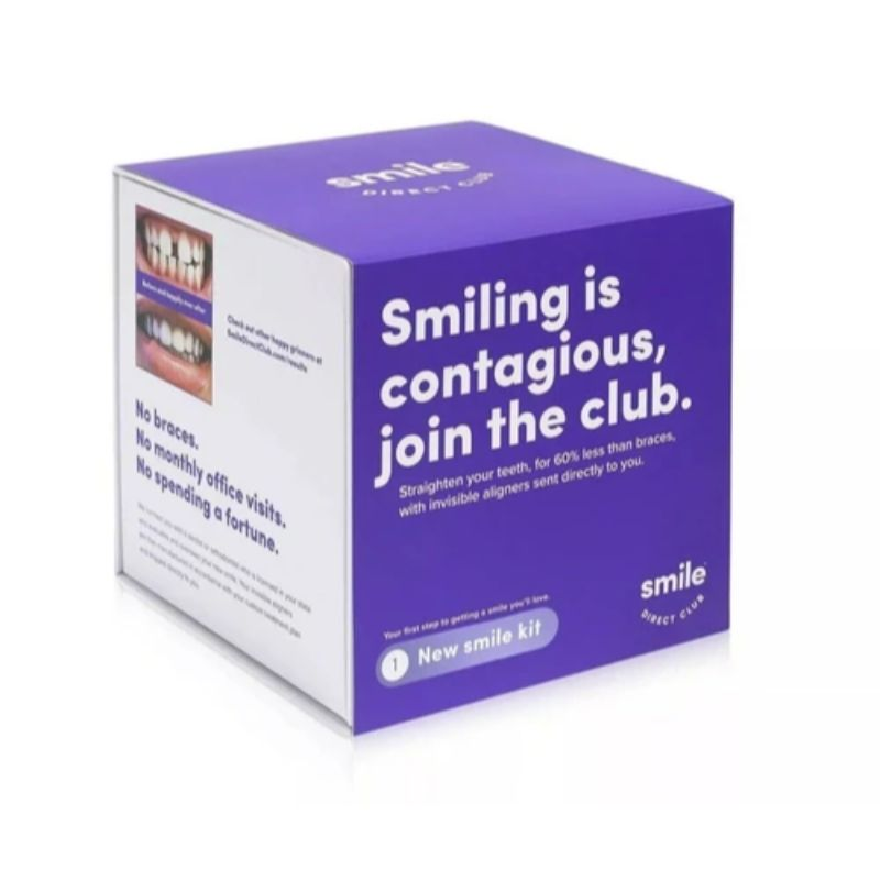 Smile Direct Club Smile Kit, Straighter Smile w/ 3 Size Trays & Lip Balm-Daily Steals