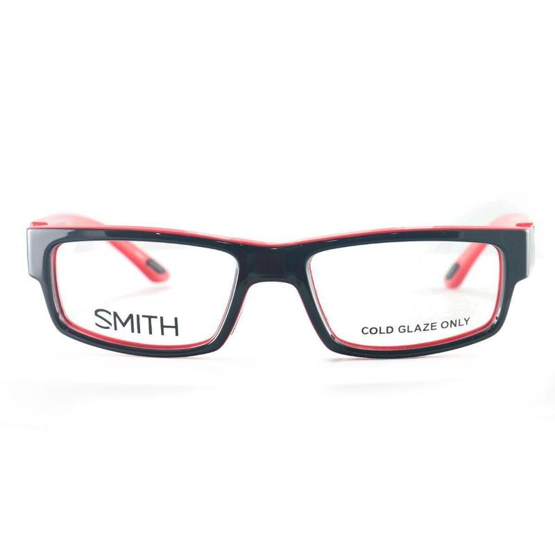 Smith Men's Eyeglasses Odyssey MV5 Black Fire Red 53 19 140 Full Rim