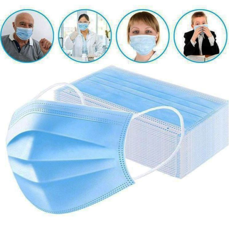 Bulk 3 Ply Non-woven Disposable Face Masks - 50, 250, 500, 1000, 2000 Pack-Daily Steals