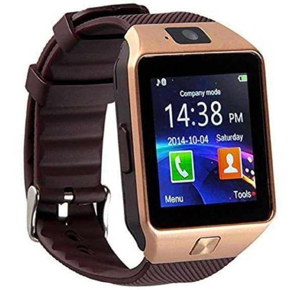 Bluetooth Smartwatch with Camera and Pedometer-Brown-Daily Steals