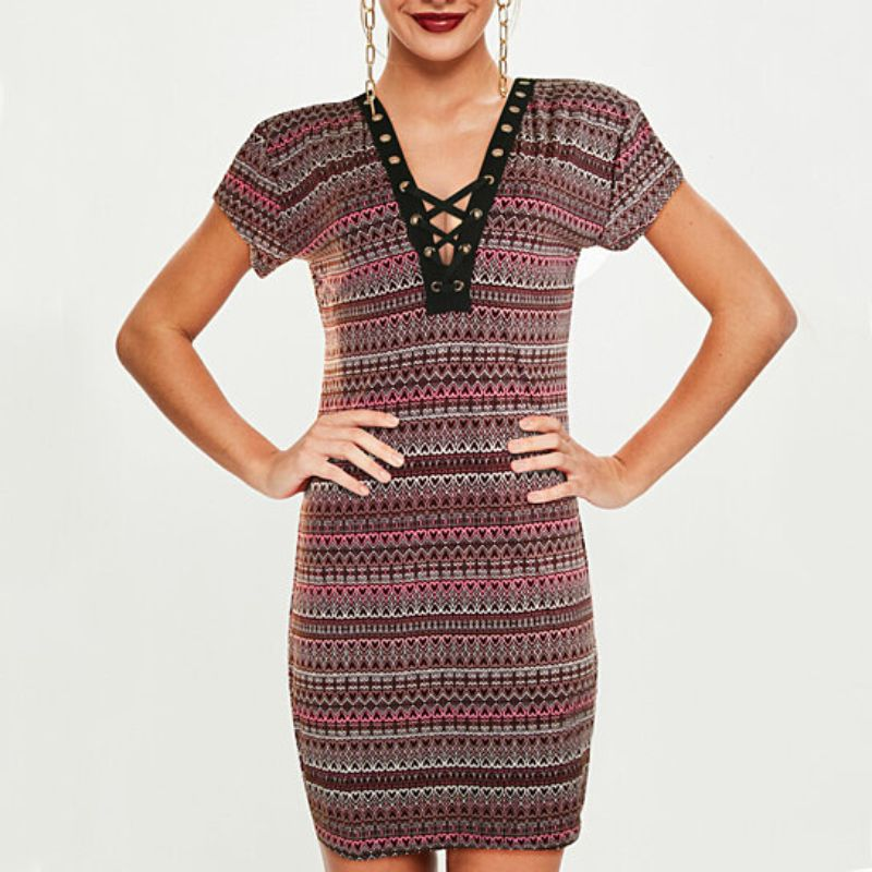 Women's Sleeveless V-Neck Above The Knee Dress - Assorted-Daily Steals