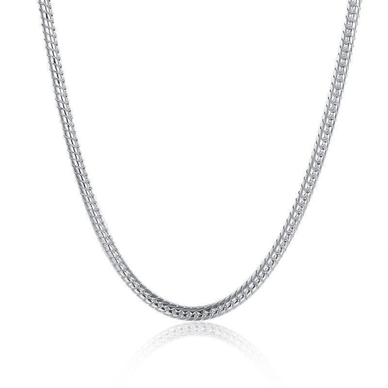 "Snake Chain in 18K White Gold Filled-20""-"