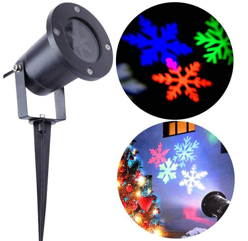 LED Multi-Color Snowflake Projector Light-Daily Steals