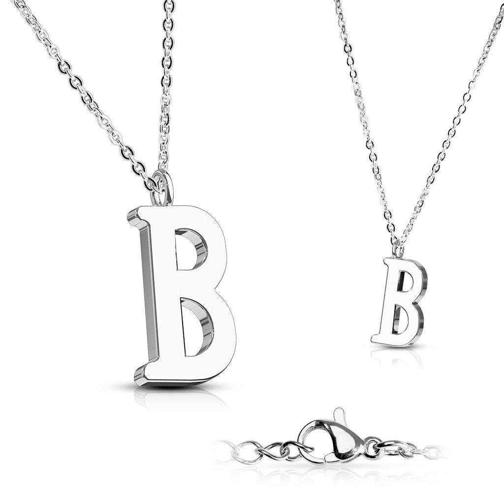 Alphabet Initial 316L Stainless Steel Pendant with Chain - 26 Letters-b-Daily Steals