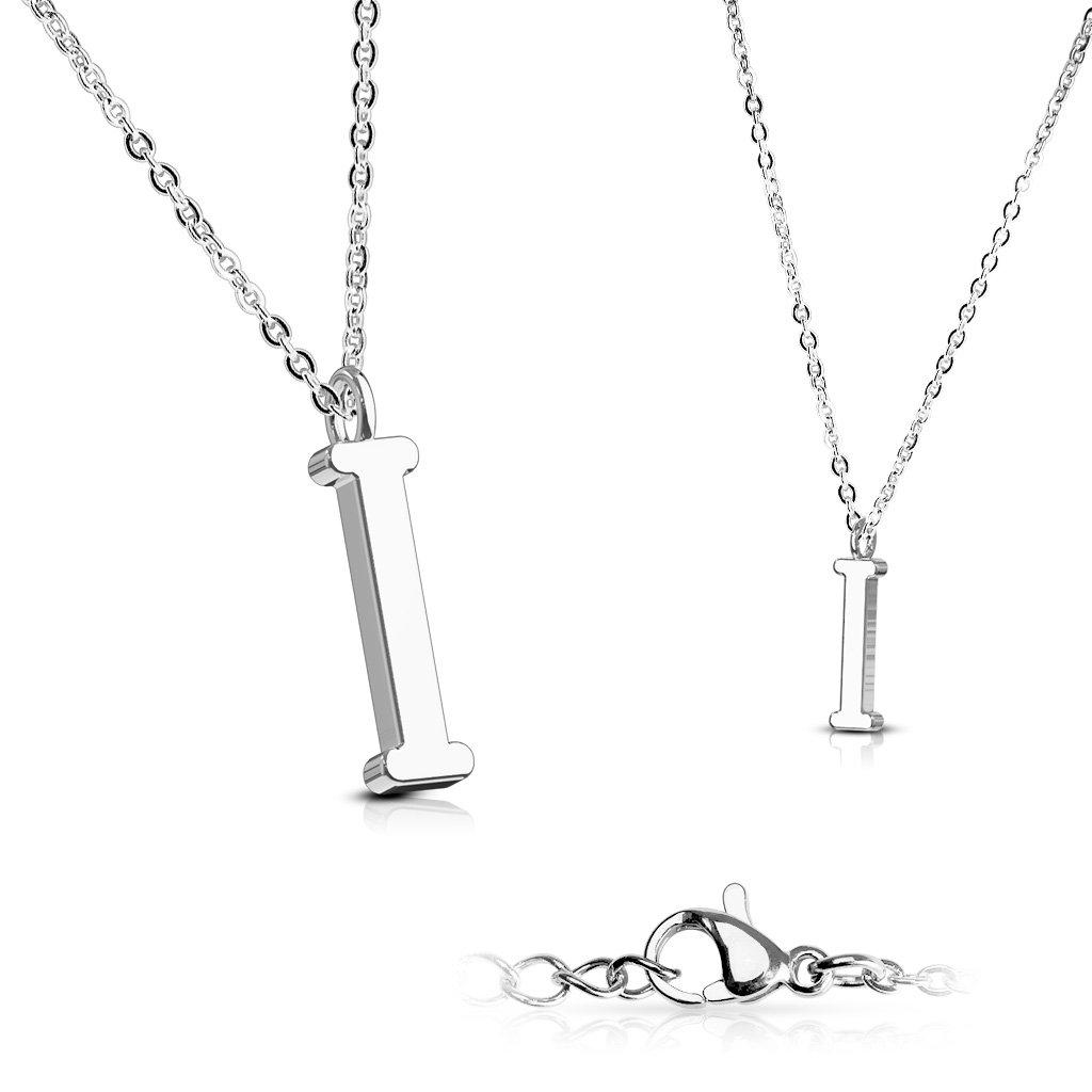 Alphabet Initial 316L Stainless Steel Pendant with Chain - 26 Letters-i-Daily Steals