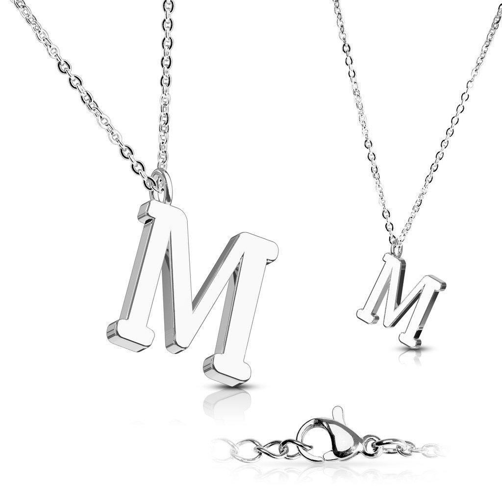 Alphabet Initial 316L Stainless Steel Pendant with Chain - 26 Letters-m-Daily Steals