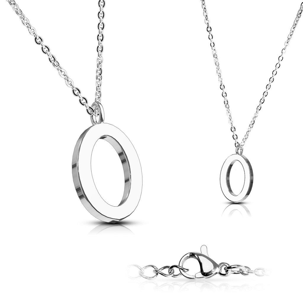 Alphabet Initial 316L Stainless Steel Pendant with Chain - 26 Letters-o-Daily Steals