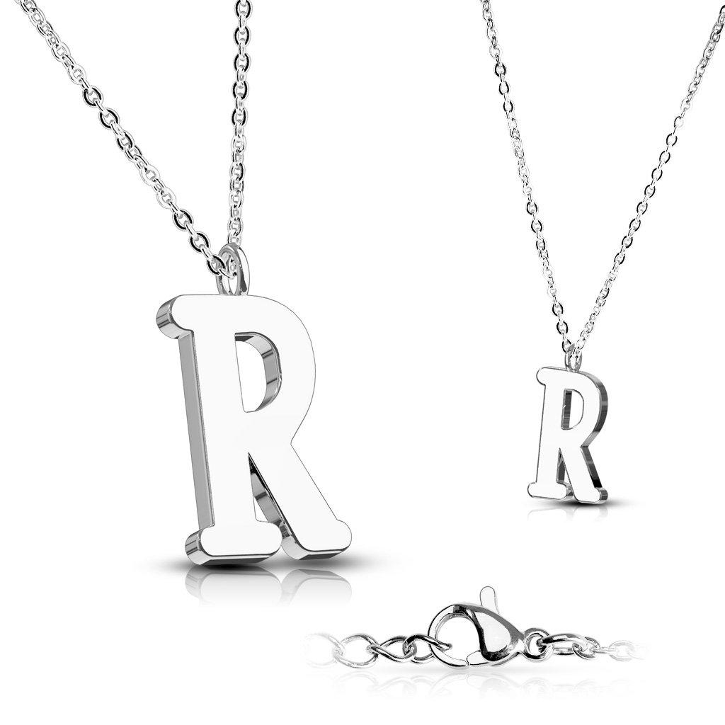Alphabet Initial 316L Stainless Steel Pendant with Chain - 26 Letters-r-Daily Steals