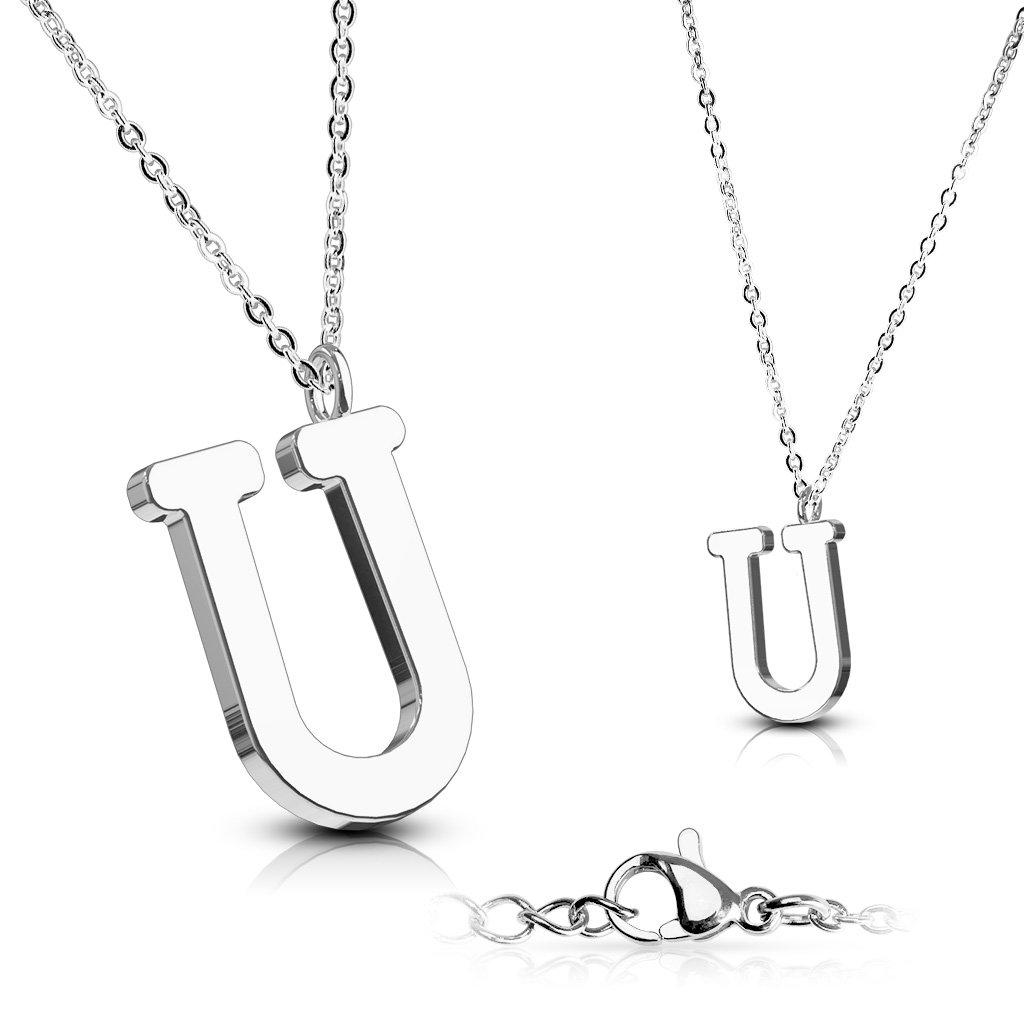 Alphabet Initial 316L Stainless Steel Pendant with Chain - 26 Letters-u-Daily Steals