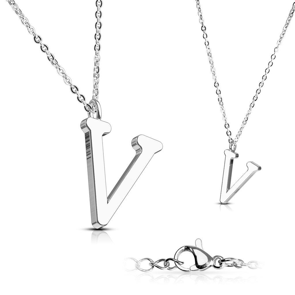 Alphabet Initial 316L Stainless Steel Pendant with Chain - 26 Letters-v-Daily Steals