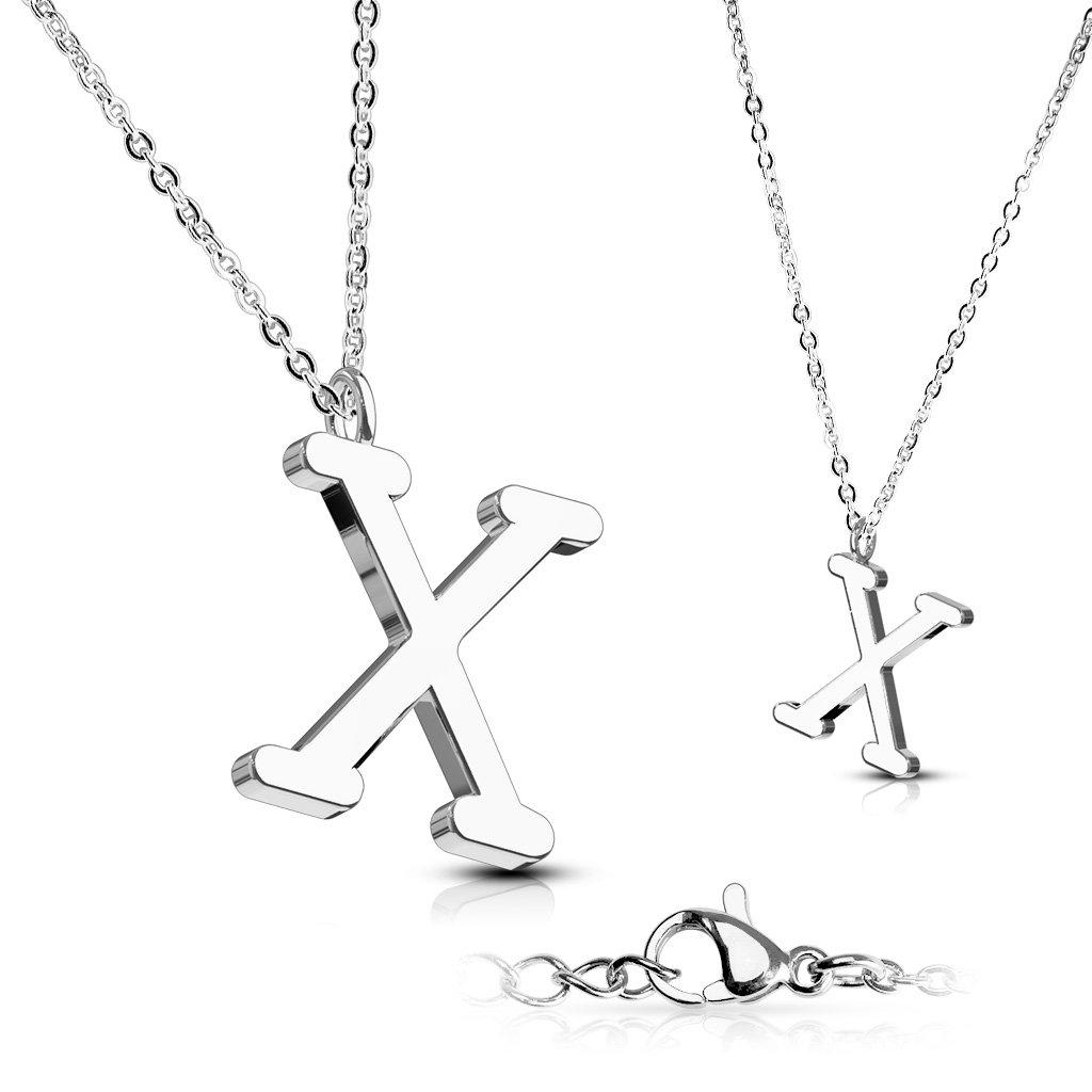 Alphabet Initial 316L Stainless Steel Pendant with Chain - 26 Letters-x-Daily Steals