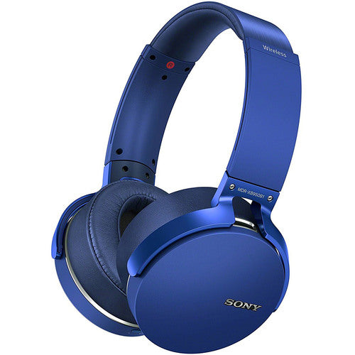 Sony Extra Bass Wireless Headphones with Bluetooth, Blue-Daily Steals
