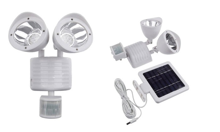 Outdoor Nation Solar Powered Security Floodlight with 22-LED Bulbs-White-Daily Steals