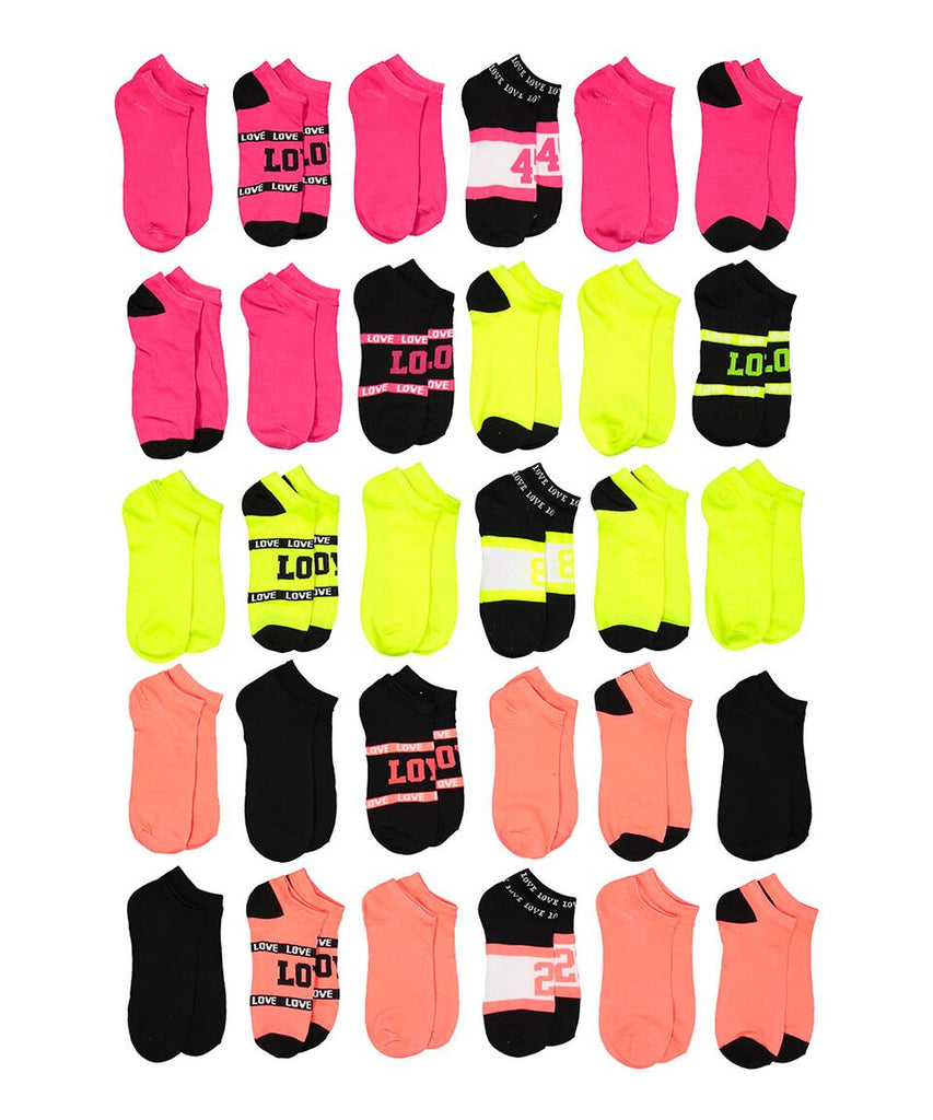 Soxo Women's Assorted Style Low-Cut Socks, 30 Pairs-Daily Steals