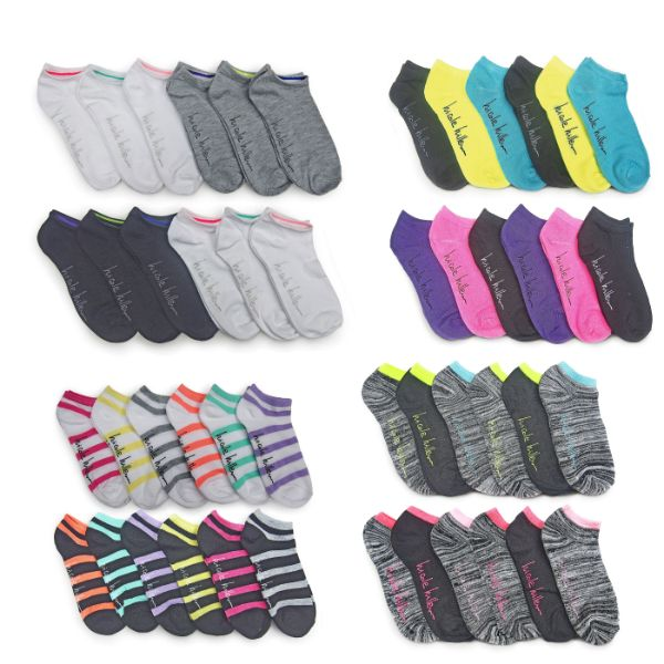 Nicole Miller Women's No Show Socks - 24 Pairs-Daily Steals