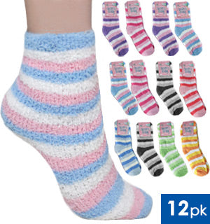 update alt-text with template Daily Steals-Ladies Fuzzy Crew Socks 12-Pack-Women's Apparel-