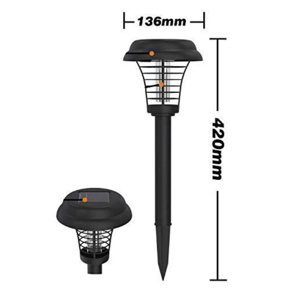 Solar Garden Light With Bug Zapper - 2 Pack-