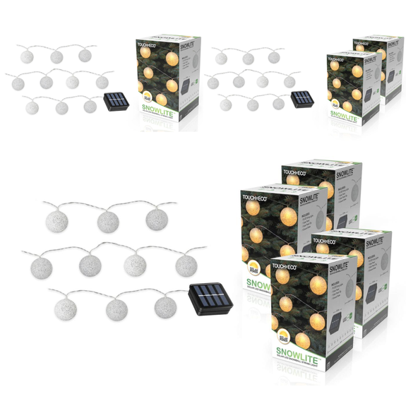 Solar LED Snowball String Lights - 1, 2, or 4 Pack-Daily Steals