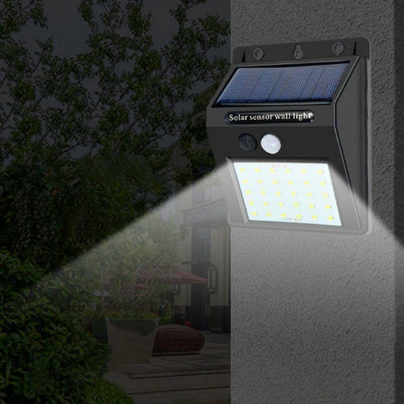 Solar Powered LED Wall Light - 2 Pack-