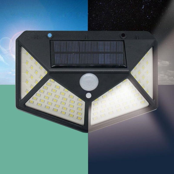 Solar Powered Motion Activated Outdoor Light - 2 Pack-
