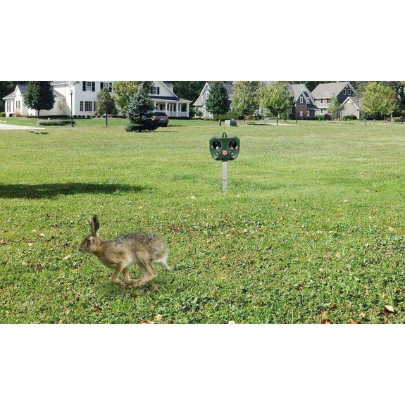 Solar-Powered Ultrasonic Animal Repeller with Motion Sensor-