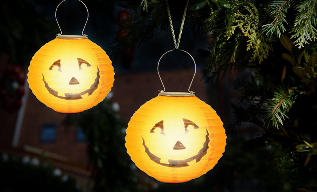 Daily Steals-Solar Pumpkin LED Lantern - 2 Pack-Other-