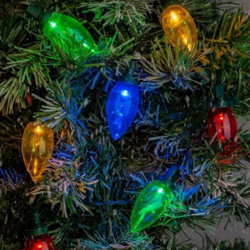 Touch of Eco Solar Multi-Color LED Holiday Bulb String Lights - 1, 2, or 4 Pack-Daily Steals