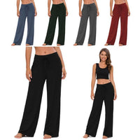 Solid Color Lounge Pants with Solid Waistband-Daily Steals