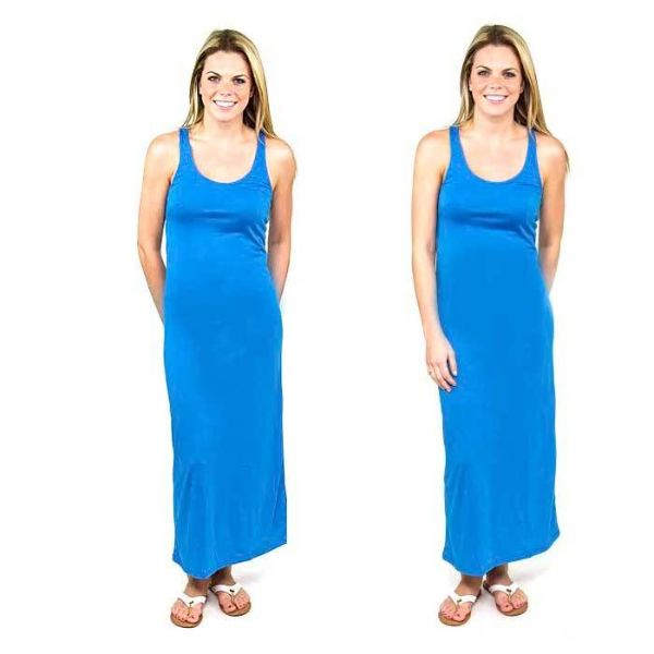 Solid Sexy Racerback Slim-Fit Maxi Dress-Blue-Large-Daily Steals