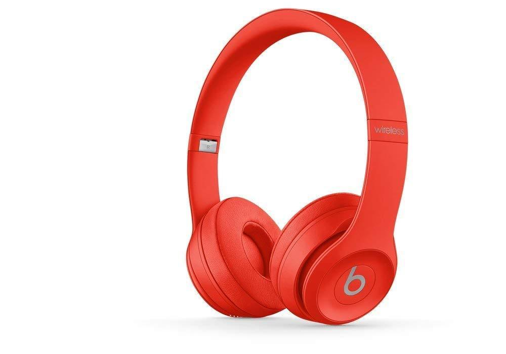 Beats by Dr. Dre Beats Solo3 Wireless Bluetooth On-Ear Headphones-Citrus Red-Daily Steals
