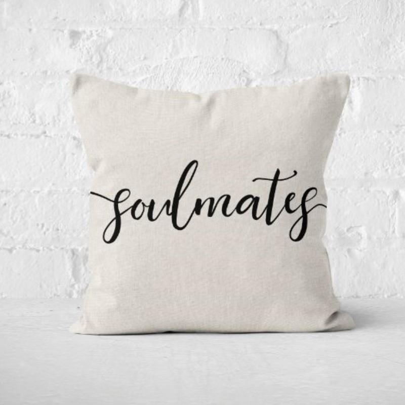"Soulmates - Square Pillow Cover - 17"" x 17""-"