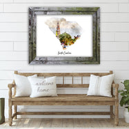"South Carolina Watercolor Map Print - Unframed Art Print-10""x8""-Solid-Daily Steals"