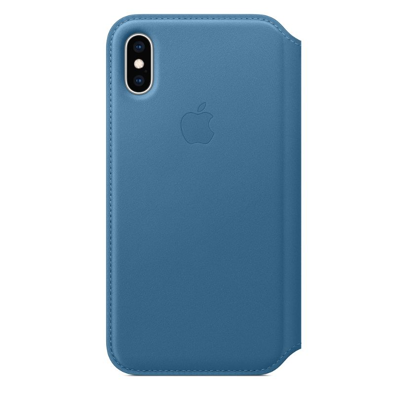 Genuine Apple Leather Folio Case for iPhone XS / XS Max-Cape Cod Blue-iPhone XS-Daily Steals