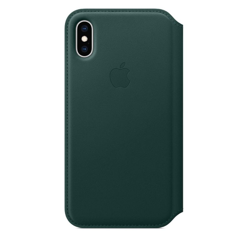 Genuine Apple Leather Folio Case for iPhone XS / XS Max-Forest Green-iPhone XS Max-Daily Steals