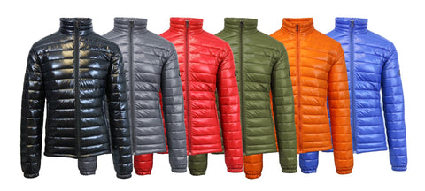 Mens Lightweight Slim Fit Puffer Jackets