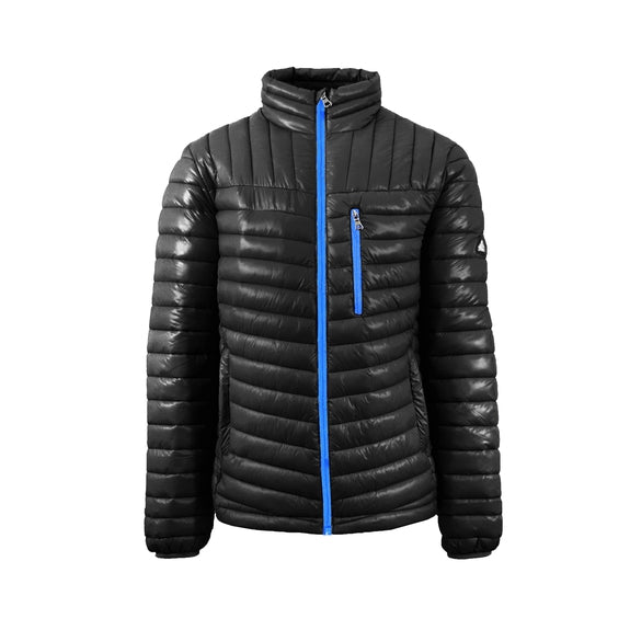 Spire By Galaxy Men's Lightweight Puffer Jackets-Black-Blue-Small-Daily Steals
