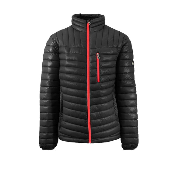 Spire By Galaxy Men's Lightweight Puffer Jackets-Black-Red-Small-Daily Steals